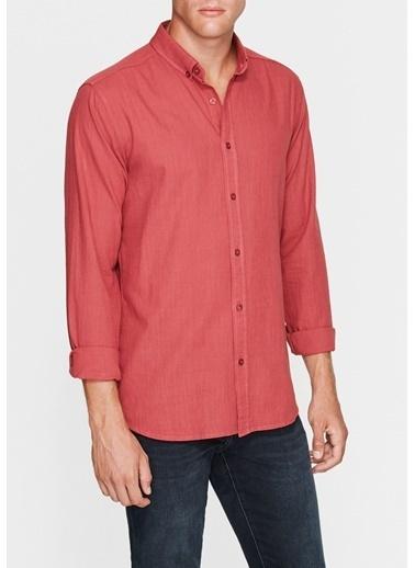 Mavi Cepsiz Gömlek Kırmızı